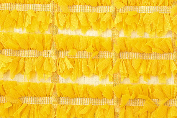 Aobun Textile Co Ltd: Stretch fabric with tape yarn inserted and cut for a flowery effect (cotton 89%, polyester 11%)