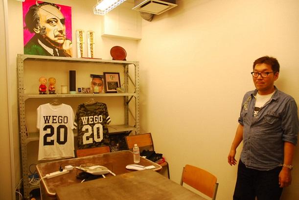 東京で初の社長室。「大阪から色々持ってこないと」と中澤社長