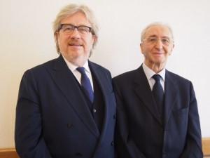 左からチェルッティCEOのダニエレ・サンゼニ、オーナーのアルベルト・チェルッティ