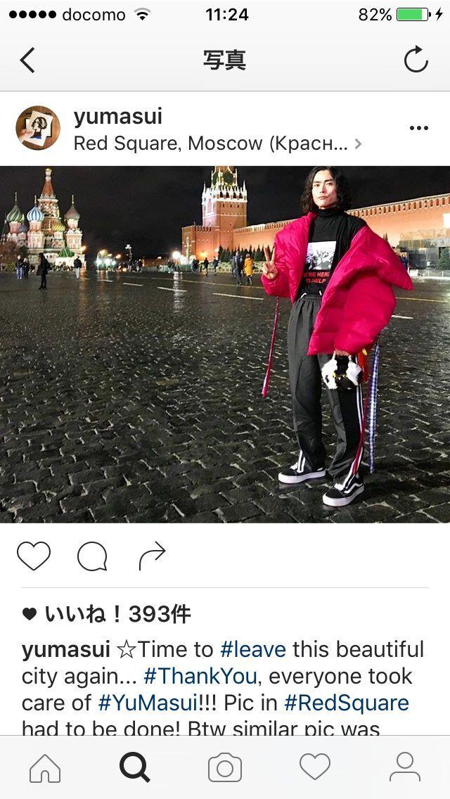 バイリンガルの発信力を買われ、各国のファッションウィークからひっぱりだこ。写真はモスクワのファッションウィーク中(益井さんのインスタグラム投稿から)