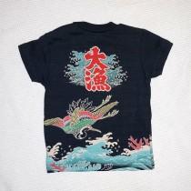 """漁師の晴れ着""""万祝(まいわい)""""をモチーフにした大漁Tシャツ"""