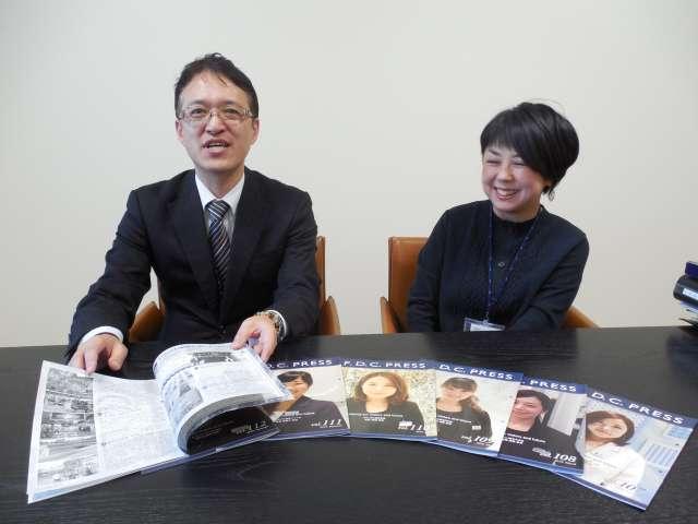 4℃ホールディングス執行役員業務担当兼経営企画の延岡一志さん(写真左)と、エフ・ディ・シィ・プロダクツ総務部人事課長の小峰興子さん