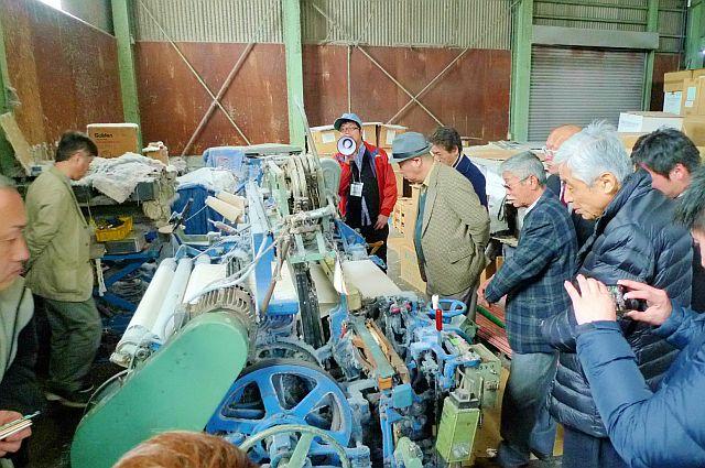 日本綿スフ織物工業組合連合会交流会工場見学